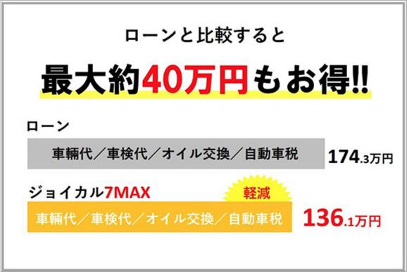 ローンと比較すると最大約40万円もお得!!